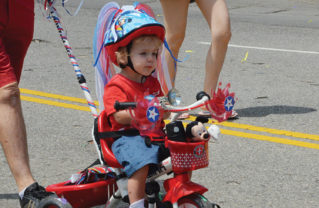 Kids of all ages ride in the parade.  Photo: Shelby Pascoe