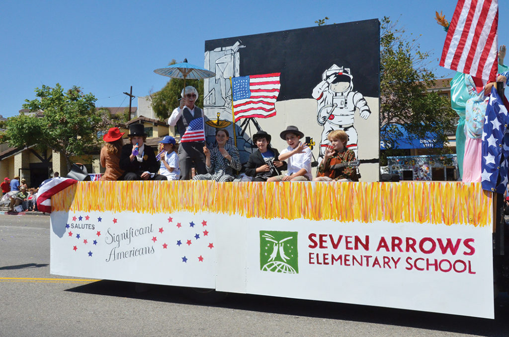Seven Arrows Elementary School's float was a welcome entry in the 2015 parade. Photo: Shelby Pascoe