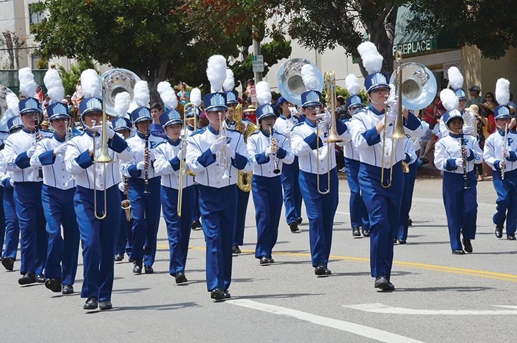 The award-winning Palisades High School marching band is a crowd favorite. Photo: Shelby Pascoe