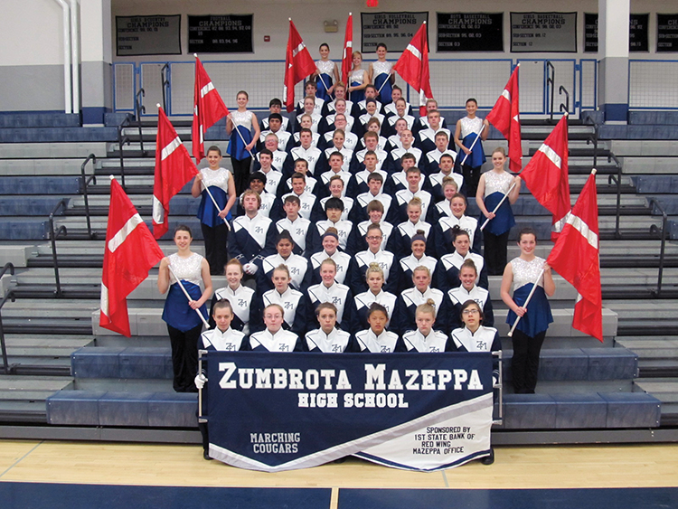 The Zumbrota-Muzeppa Marching Cougars of Minnesota. Photo courtesy Pageantry Productions