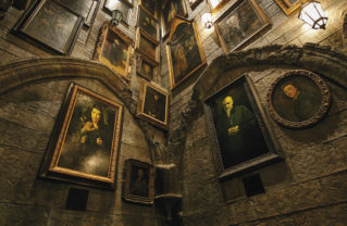 The Portrait Gallery located inside Hogwarts castle. Photo courtesy Universal Studios Hollywood