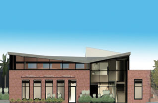 This newly-remodeled building on La Cruz has been leased to Seven Arrows Elementary School. Rendering courtesy UDO Real Estate