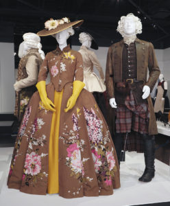 Emmy-nominated designer Terry Dresbach's costumes from Outlander are among 100 costumes from 23 television shows currently on display at FIDM until October 15.