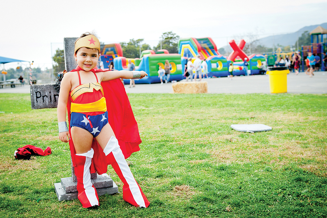 Three-year-old Ella Silverstein was one of the many Palisadians who had fun at the nnual Marquez Elementary Halloween Festival. Photo: Lesly Hall
