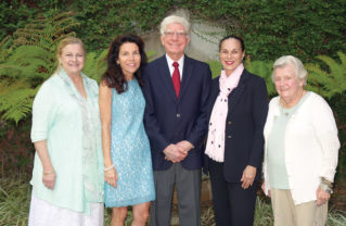 Altadena resident Dr. Kenneth D. Hill is flanked by Pacific Palisades residents (left to right) Barbara Hance, Christin Moses, Christine Ofiesh and Missie McClure. Photo: Candy Yee