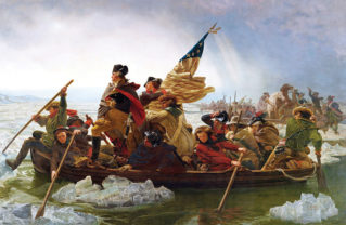 The well-known painting Washington Crossing the Delaware (1851) by Emanuel Leutze, contains several inaccuracies.