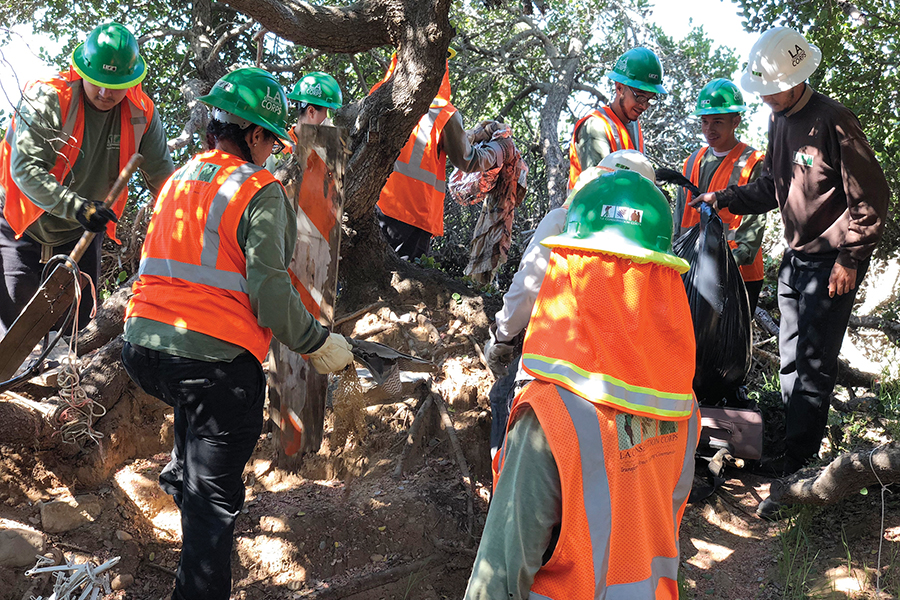 Palisades News Letters: L.A. Conservation Corps