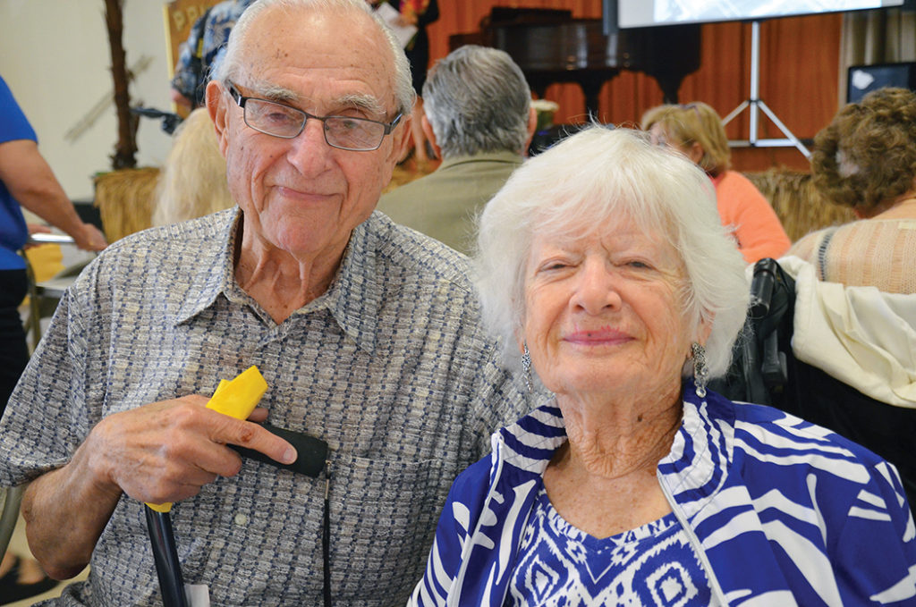 Reuben and Blanche Rosloff have been married for more than 70 years.